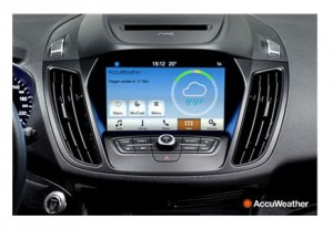 Ford screen accuweather