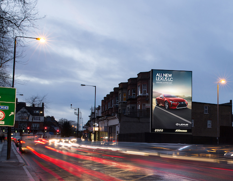JCDecaux The West Hill Tower 50th extra-large format