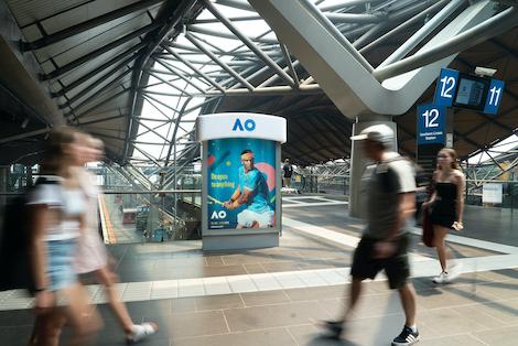 Australian Open Giant Sweatbands Installed By Jcdecauxaus